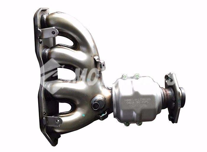 带催化剂载体式排气管